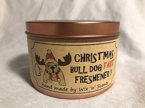 Christmas Bull Dog Fart Freshener