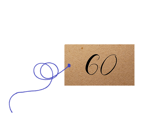 60th Birthday - Label