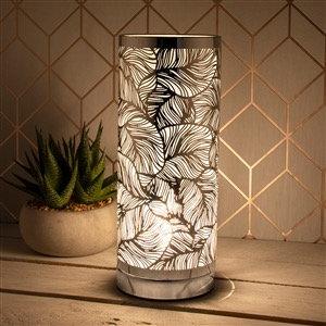 Aroma lamp - silver leaf design