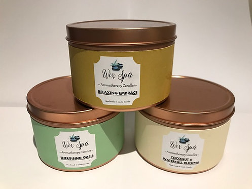Aromatherapy candle in tin