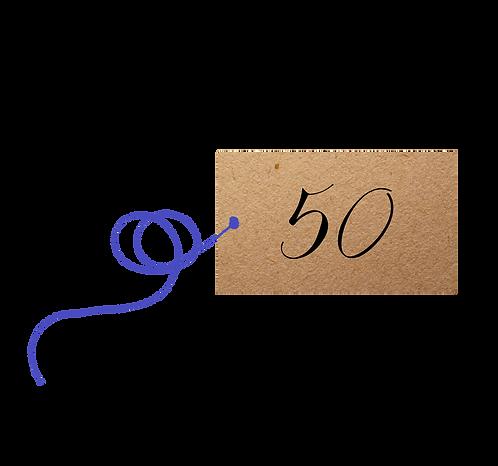 50th Birthday - label