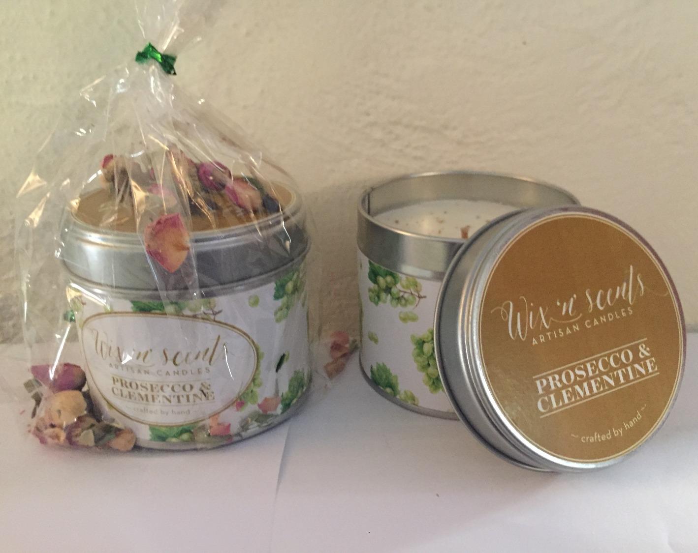 Single candle gift set