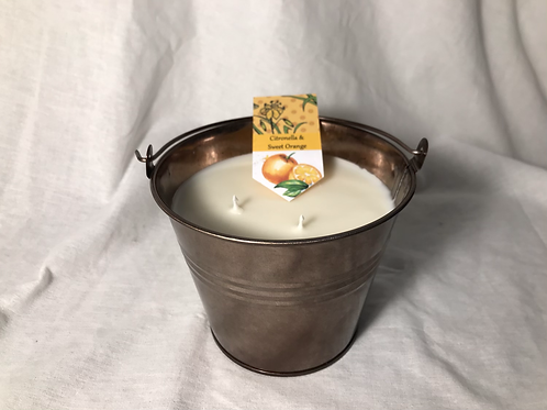 Citronella & Orange - copper bucket