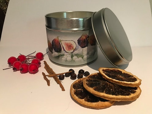 Festive Fig & Snowberry Candle - Silver