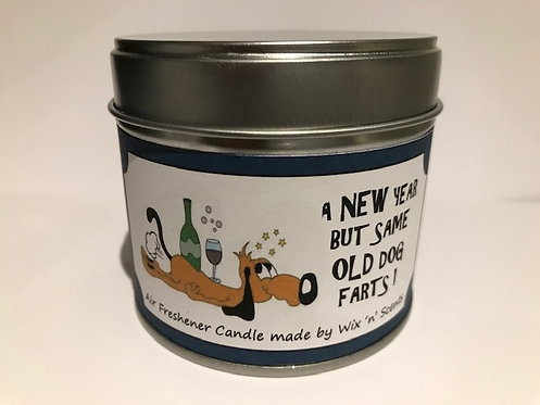 New Year Comedy Dog Fart Candle