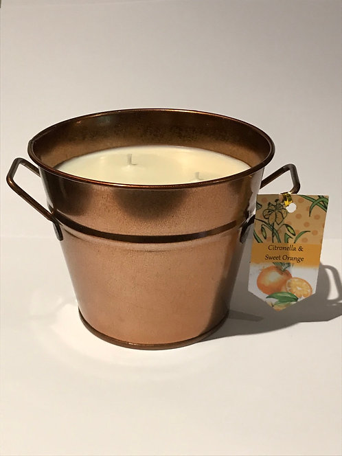 Citronella & Orange - copper bucket