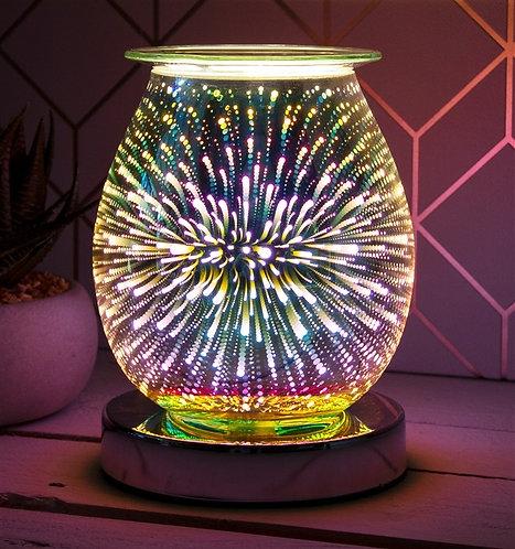 Firework 3D effect wax melt burner