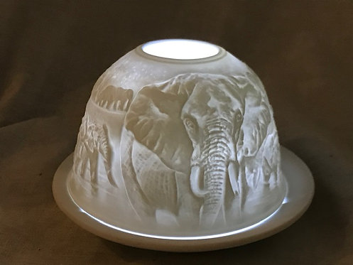 Tea Light Dome - Elephants