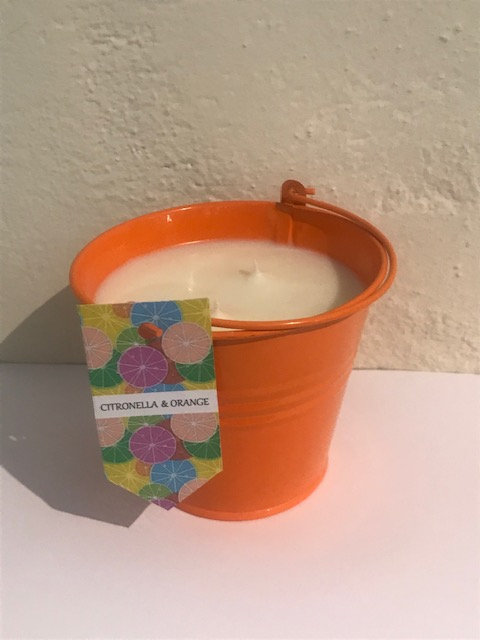 Outdoor candle - Orange bucket