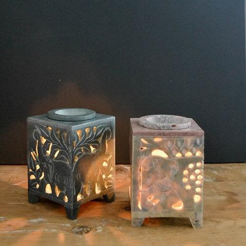 Elephant oil burner - soapstone