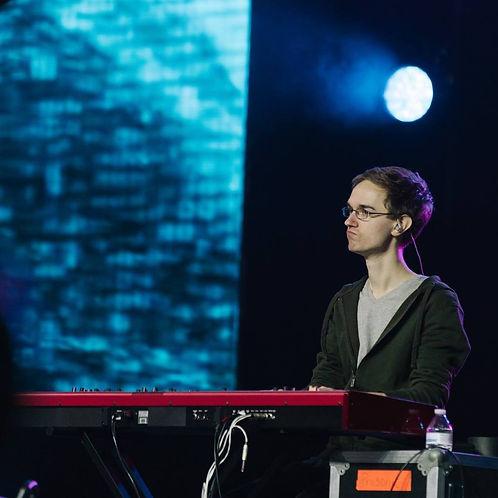 Austin Deadman musician stage pianist vertical church ccm keyboardist music director