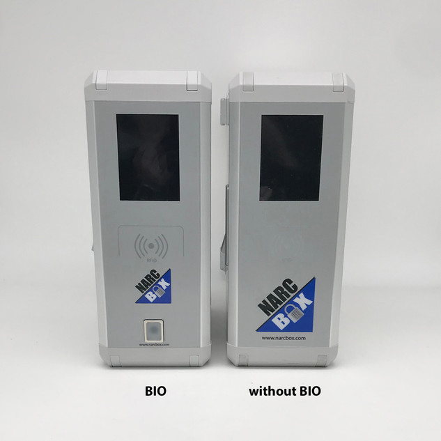 NarcBox with and without biometrix accessory