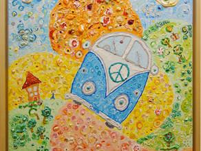 Bulli - Gemälde über eine Reise