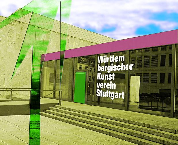 Württembergischer Kunstverein, Eingang des Gebäudes in Stuttgart