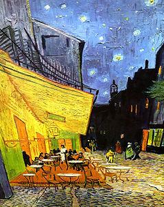 Gemälde von Vincent, Caféterrasse am Abend