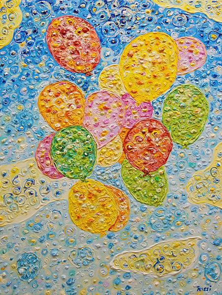 Ballons, ein Gemälde aus Stuttgart