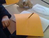 Blind contour drawing lesson