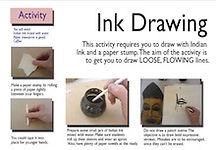Ink drawing skills