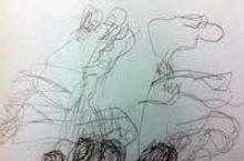 Blind hand drawing lesson plan