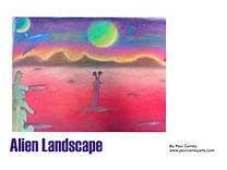 Alien Landscape art lesson plan