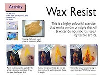 Wax resist art skills