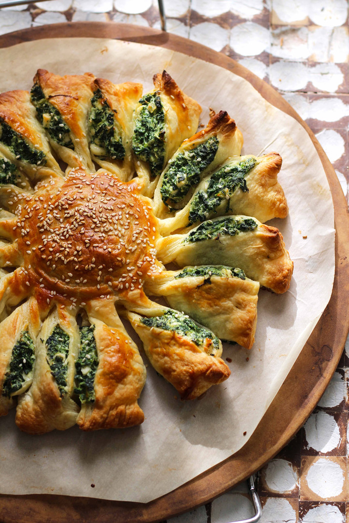Spinach Sun Appetizer