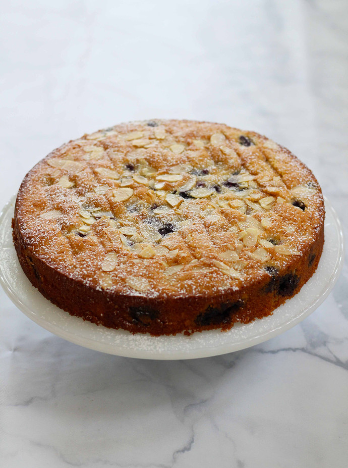 Gluten Free Blueberry Almond Cake