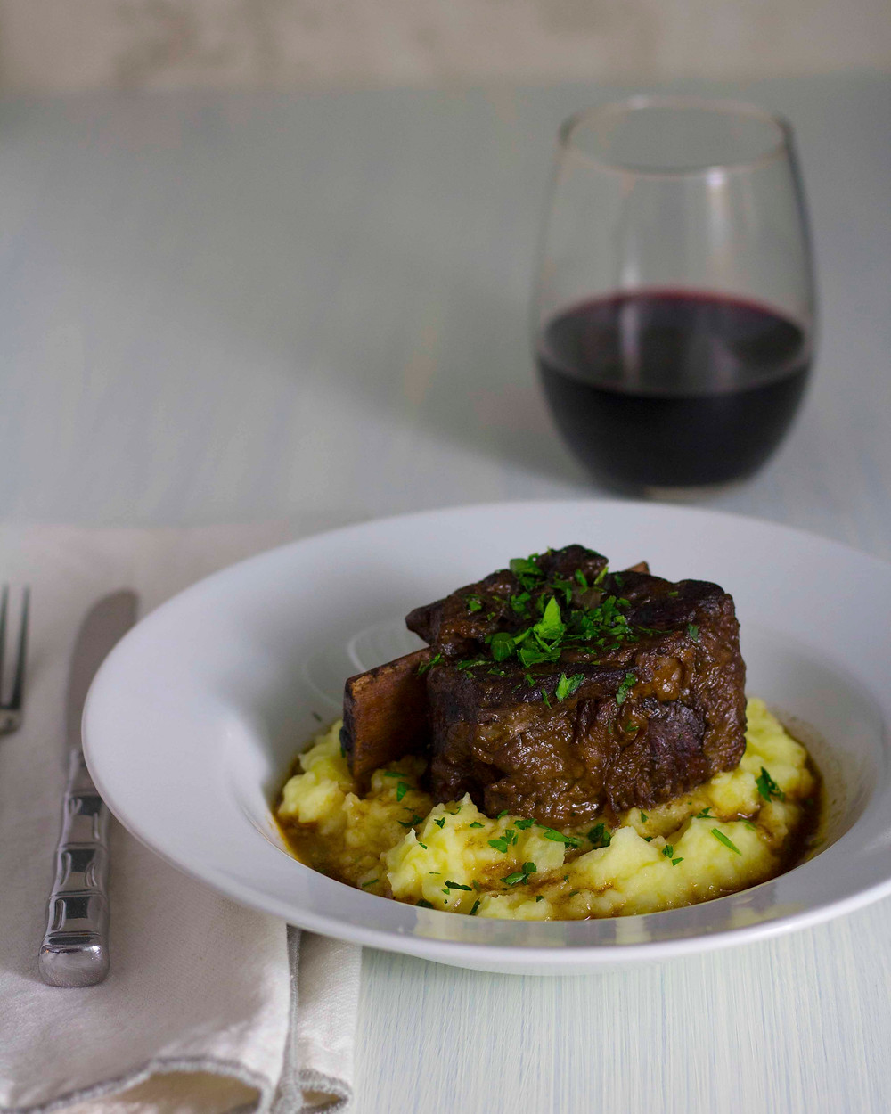crock pot short ribs with mashed potatoes