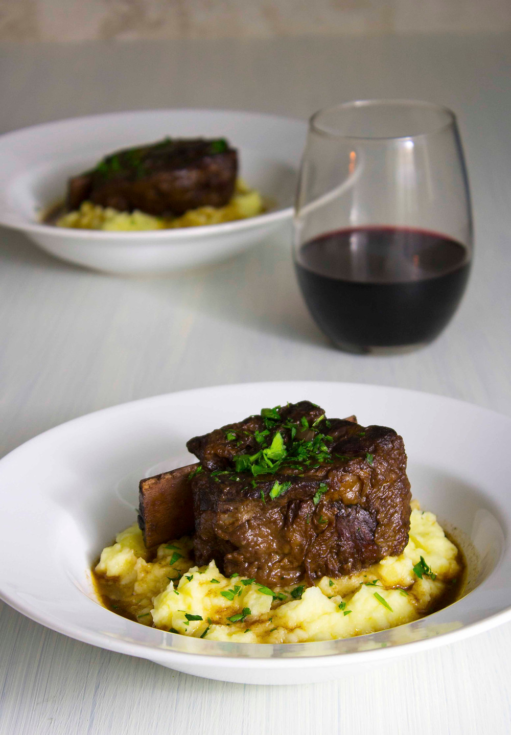 braised short ribs with truffle mashed potatoes