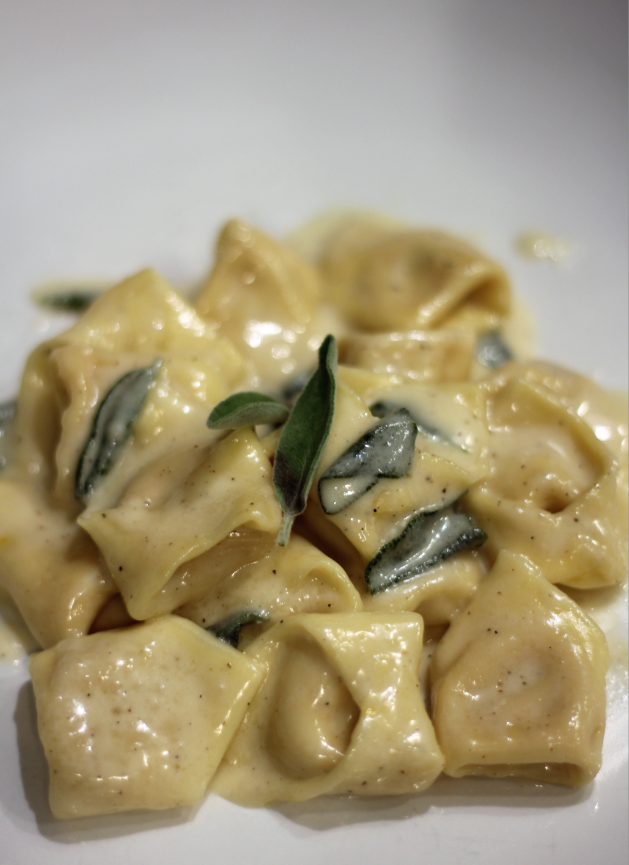 Homemade Tortellini with Parmesan Cream Sauce