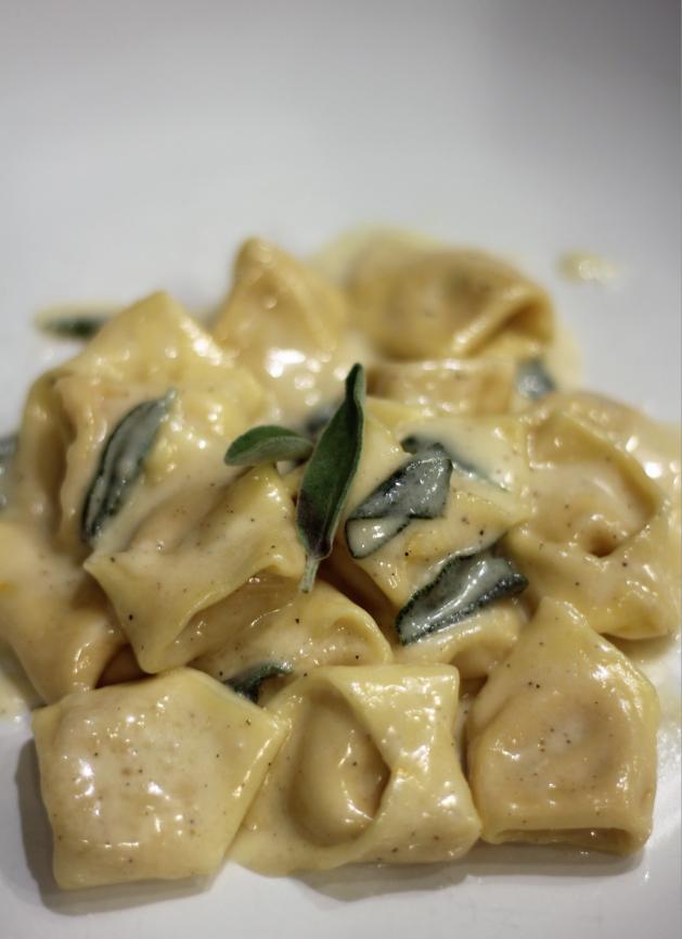 Homemade Tortellini with Parmesan Cream Sauce