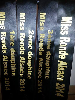 Écharpe de Miss simple personnalisée