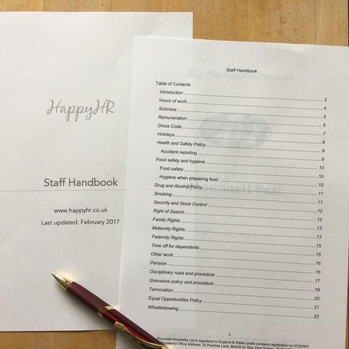 Employee Handbook Template HR Consultancy Sutton Coldfield Happyhr - Employee safety handbook template