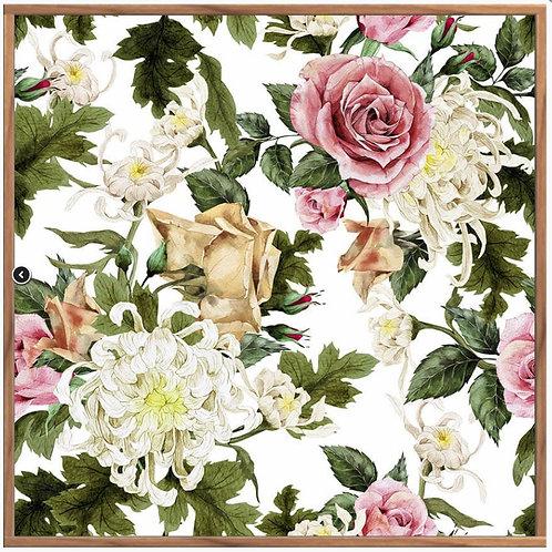 Morning Rose, Floating Frame, 100 x 100
