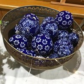 Blue Balls, Large, Medium and Small