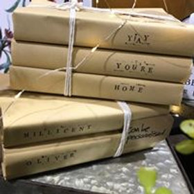Aged, Hand Stamped and Wrapped books....any way you'd like
