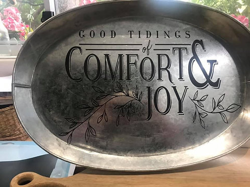 Galvanized sign (can be used as a tray as well)