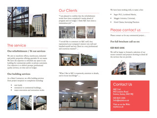 MJC refurbishment and building brochure for download