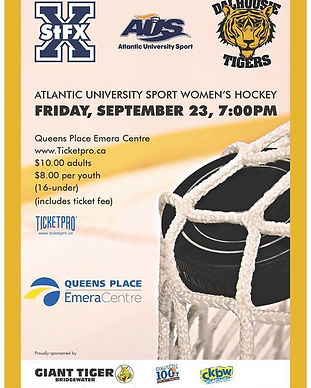 AUS Womens Hockey Poster Dal Tigers vs St FX