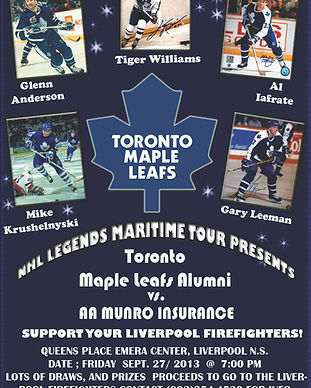Toronto Maple Leaf legends poster