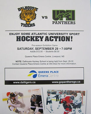 AUS Mens Hockey Dal Tiger vs UPEI game poster