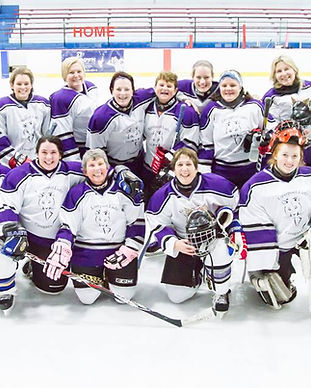 Lady Cougars team pic hosts Hot on Ice