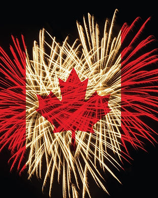 Canada Day Fireworks representation