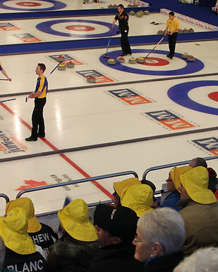 MM Canadian Junior Curling 2014 Fans in SouWesters and Ice View