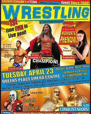 Mainstream Wrestling event poster
