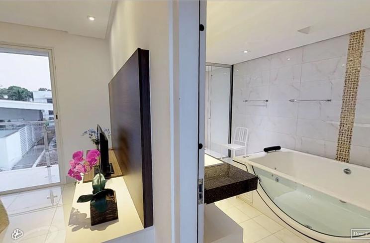 Suíte Master e sala de banho