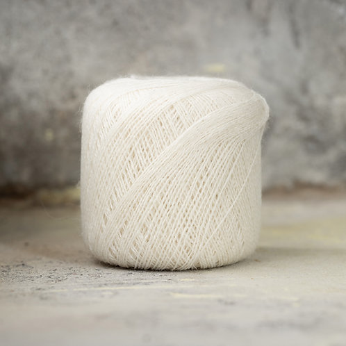 2ply Supreme Lace Weight White