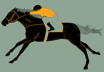 Race Horse Savile Row window display