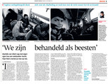 We zijn behandeld als beesten/Brabants Dagblad