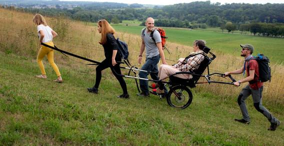 Joelette voertuigje voor gehandicapten-0